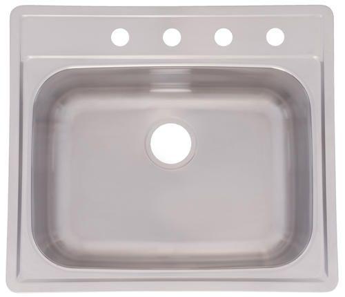 "Franke 25"" X 22"" Dropin 20 Gauge Single Bowl Sink At Menards Fascinating Menards Kitchen Sinks Inspiration Design"