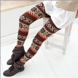Trending for Winter: Patterned Tights and Leggings