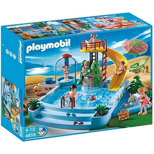 Playmobil   Pool With Water Slide (4858)   Playmobil ...