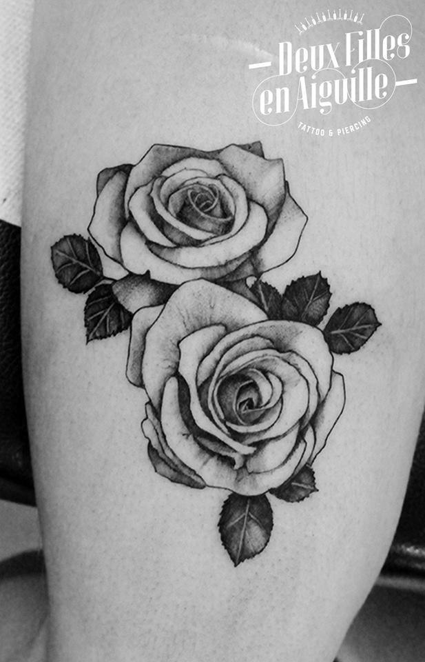 Roses tatouage deux filles en aiguille shop arles - Tatouage a deux ...