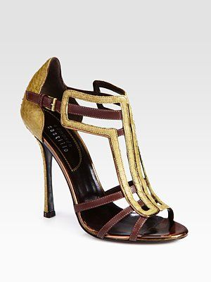 outlet low cost Edmundo Castillo Metallic Leather Sandals Cheapest cheap online outlet latest free shipping excellent pay with paypal cheap online HRanYyGgFi