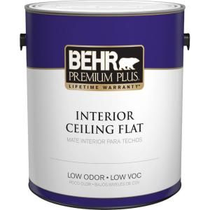 behr premium plus 1 gal flat interior ceiling paint 55801 on home depot behr paint colors interior id=28997