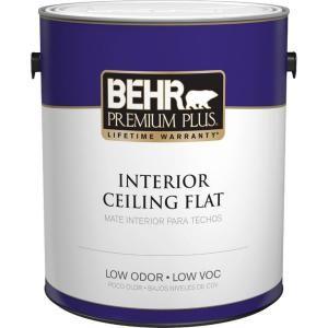behr premium plus 1 gal flat interior ceiling paint 55801 on home depot behr paint id=36186