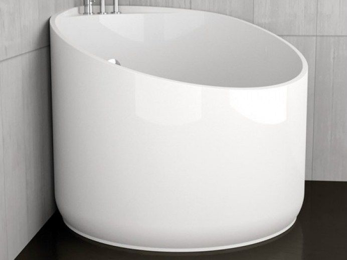 Eck- runde Badewanne MINI WHITE by Glass Design Design Marco Pisati ...