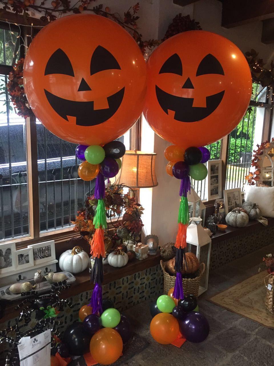 Globo calabaza globos adornos halloween mu ecos - Adornos de halloween ...