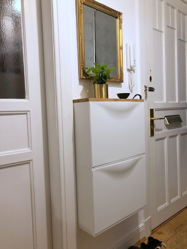 2 Fabulous Ways To Use Trones Not As A Shoe Cabinet Ikea Hackers Tiny Entryway Small Entryways Ikea Shoe Cabinet