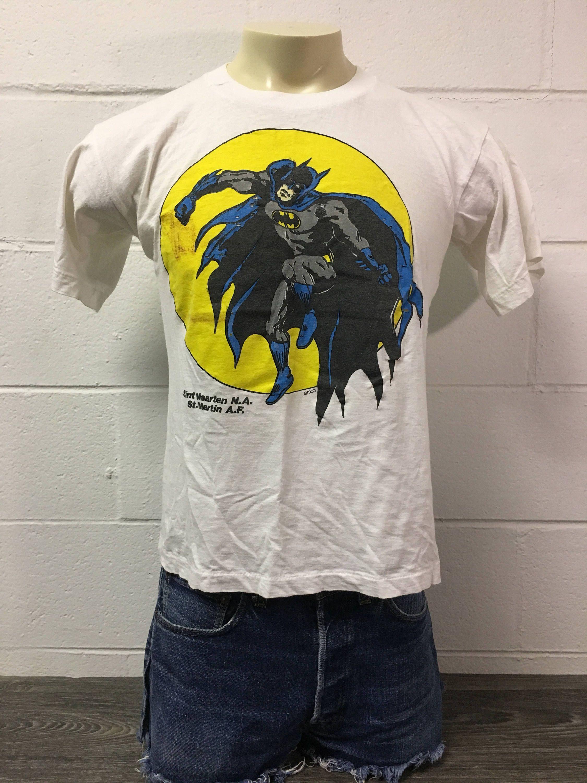 BATMAN Shirt Vintage 90s Original Soft   Thin Dark Knight Gotham City DC  Comics Movie Tshirt Emco Superhero Michael Keaton Joker Tee by  sweetVTGtshirt on ... 10893f2f0