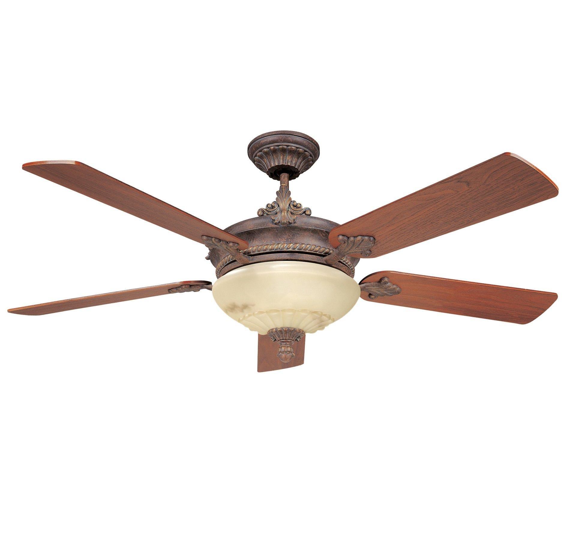 Savoy House Bristol Sv 52 15 5wa Ag Airflow Rating 5339 Cfm Cubic Feet Per Minute Ceiling Fan Gold Ceiling Fan Victorian Ceiling Fans
