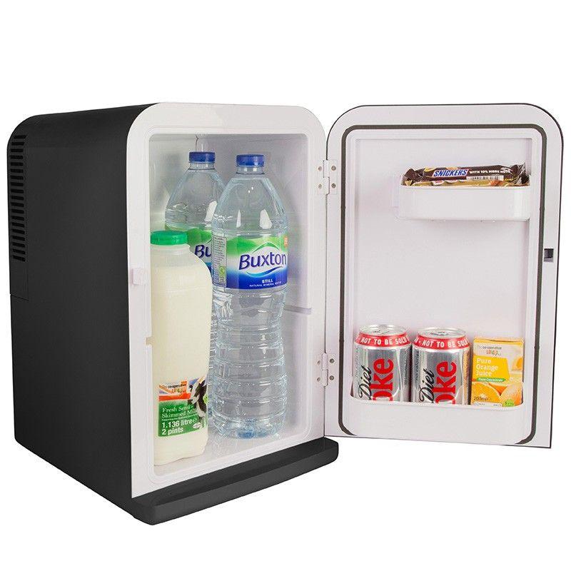 Haot Mini Fridge 25l Large Capacity Mini Car Small Refrigerator Dual Core Dual Use 220v Ac In 2020 Small Refrigerator Bedroom Gadgets Cool Car Gadgets