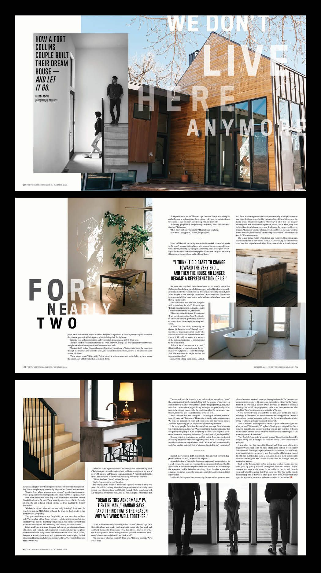 Fort Collins Magazine home feature layout design by shelleylai.com