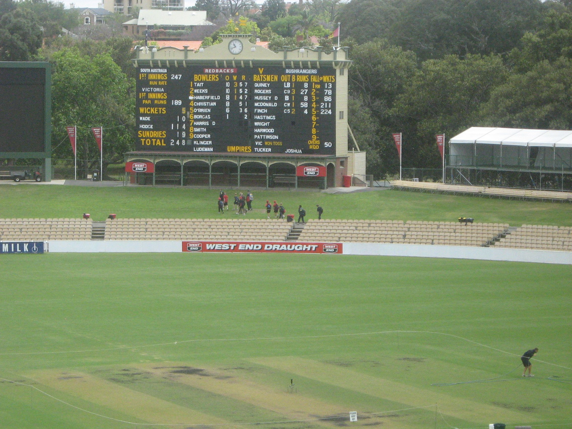 The Old Scoreboard Adelaide Cricket Ground Adelaide South Australia Australia History South Australia Australia Living