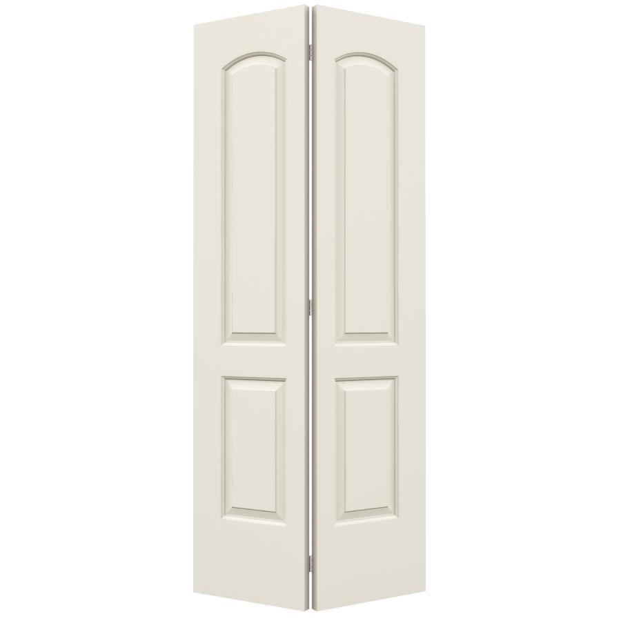 Reliabilt Hollow Core 2 Panel Round Top Bi Fold Closet Interior Door Common 36 In X 80 In Actual 35 5 In X Bifold Door Hardware Doors Interior