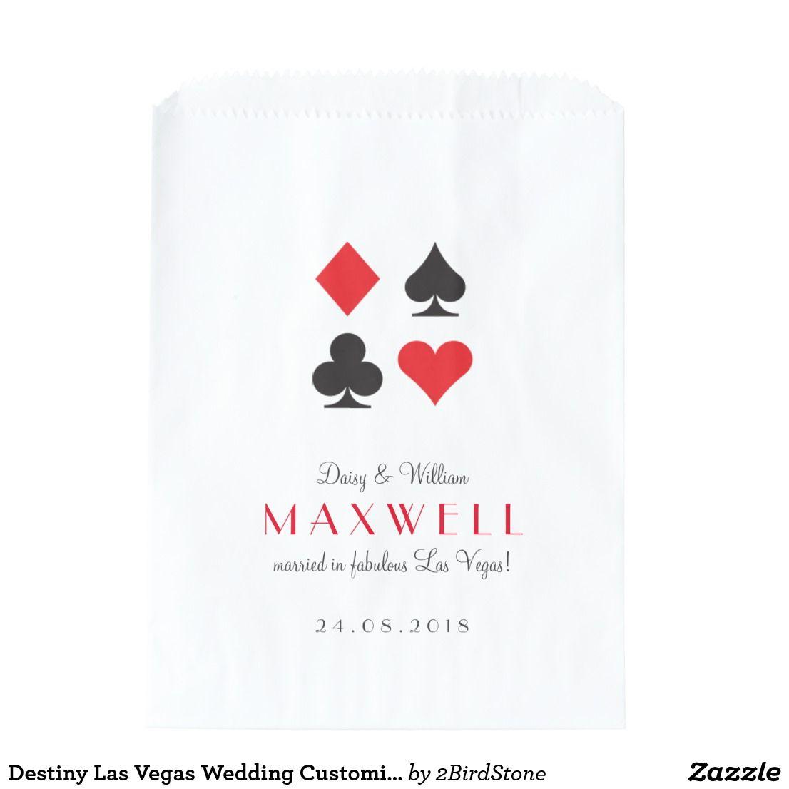 Destiny Las Vegas Wedding Customized Favor Bag | Favor bags, Favors ...
