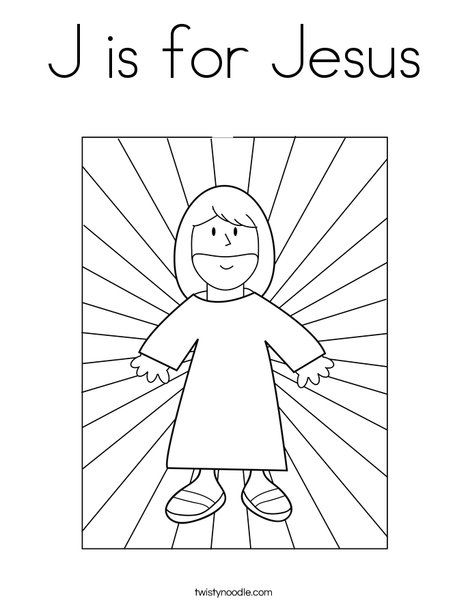 J Is For Jesus Coloring Page Jesus Coloring Pages Bible Coloring Pages Bible Coloring