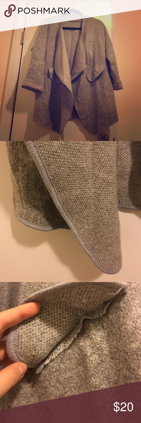 Grey Romwe Cardigan Sweater Never worn ROMWE Sweaters Cardigans