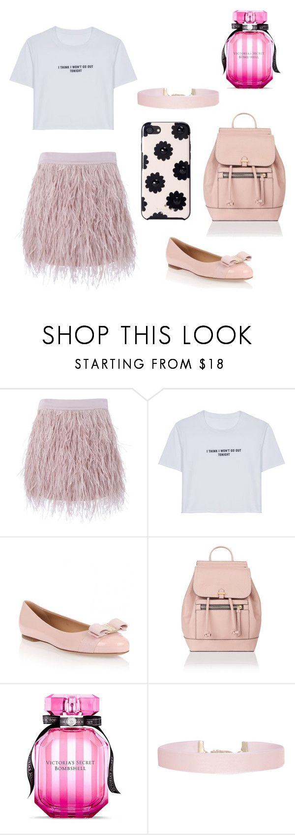 """Başlıksız #119"" by aysel-ulker ❤ liked on Polyvore featuring SuperTrash, WithChic, Salvatore Ferragamo, Accessorize, Victoria's Secret, Humble Chic and Kate Spade"