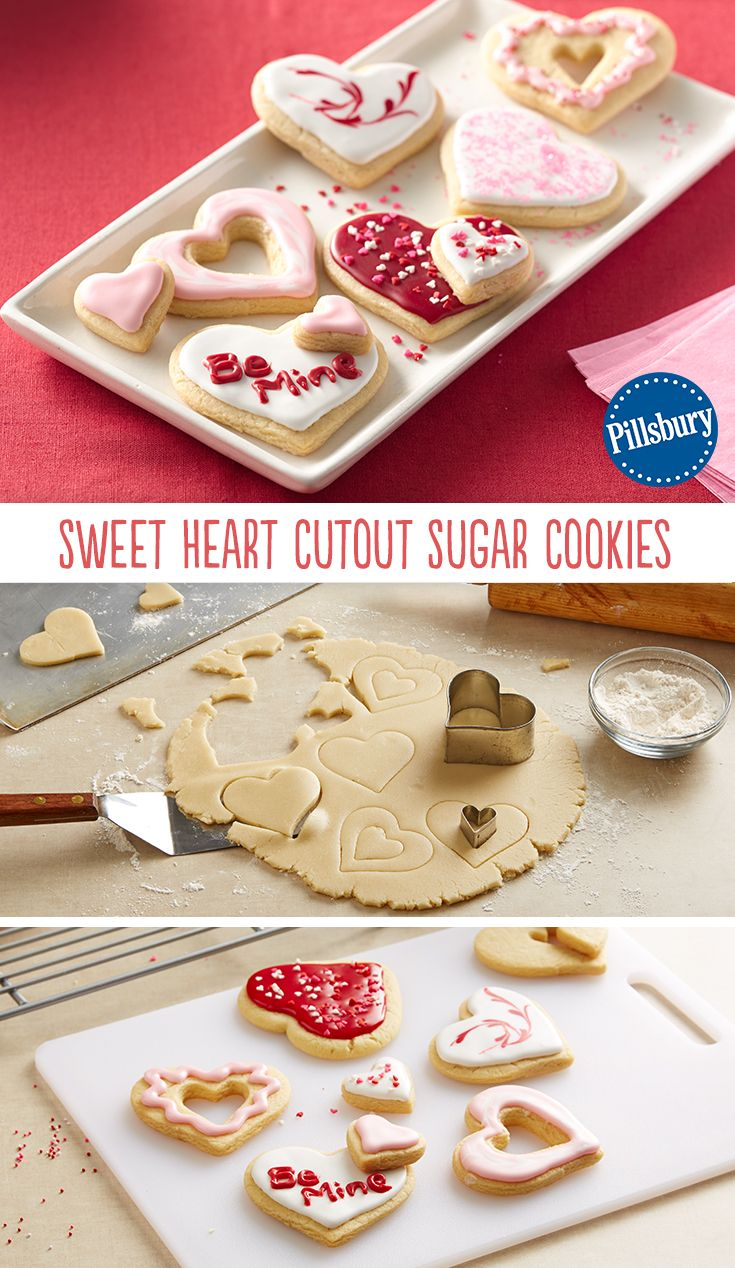 Sweet Heart Cutout Sugar Cookies Recipe Valentine S Day Recipes