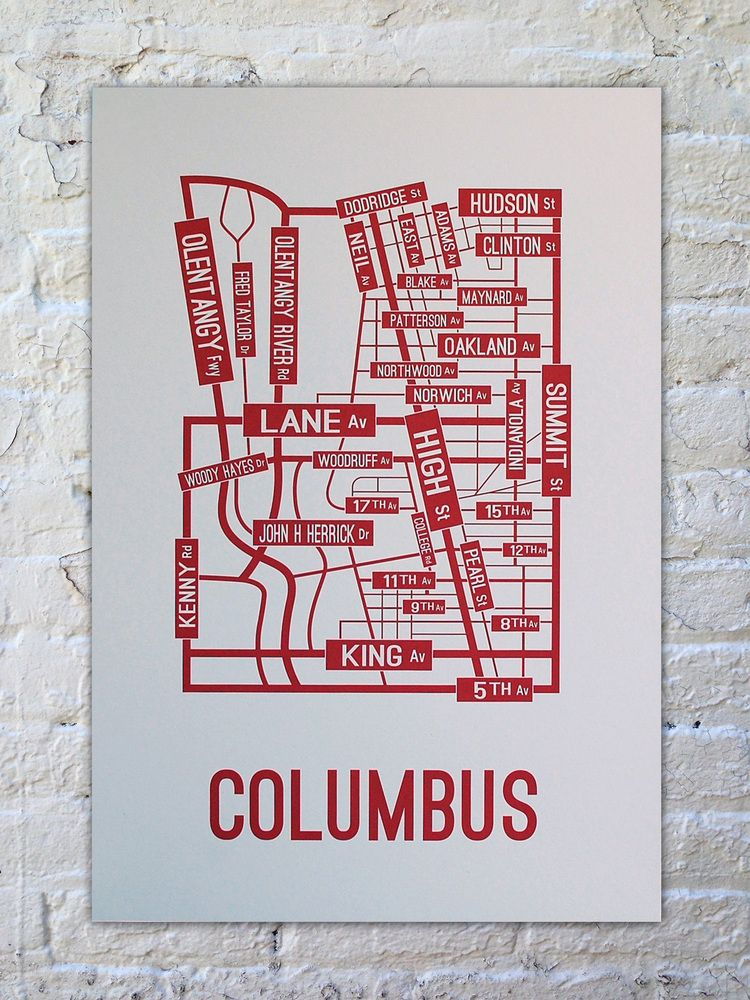 Ohio State Map Campus.Ohio State Buckeyes Gift Map Of Osu S Campus In A Poster Such A