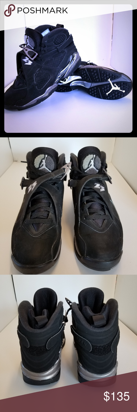 b14c488c072 NIKE AIR JORDAN 8 VIII RETRO Chrome black white Selling a pair of Retro  Jordan 8