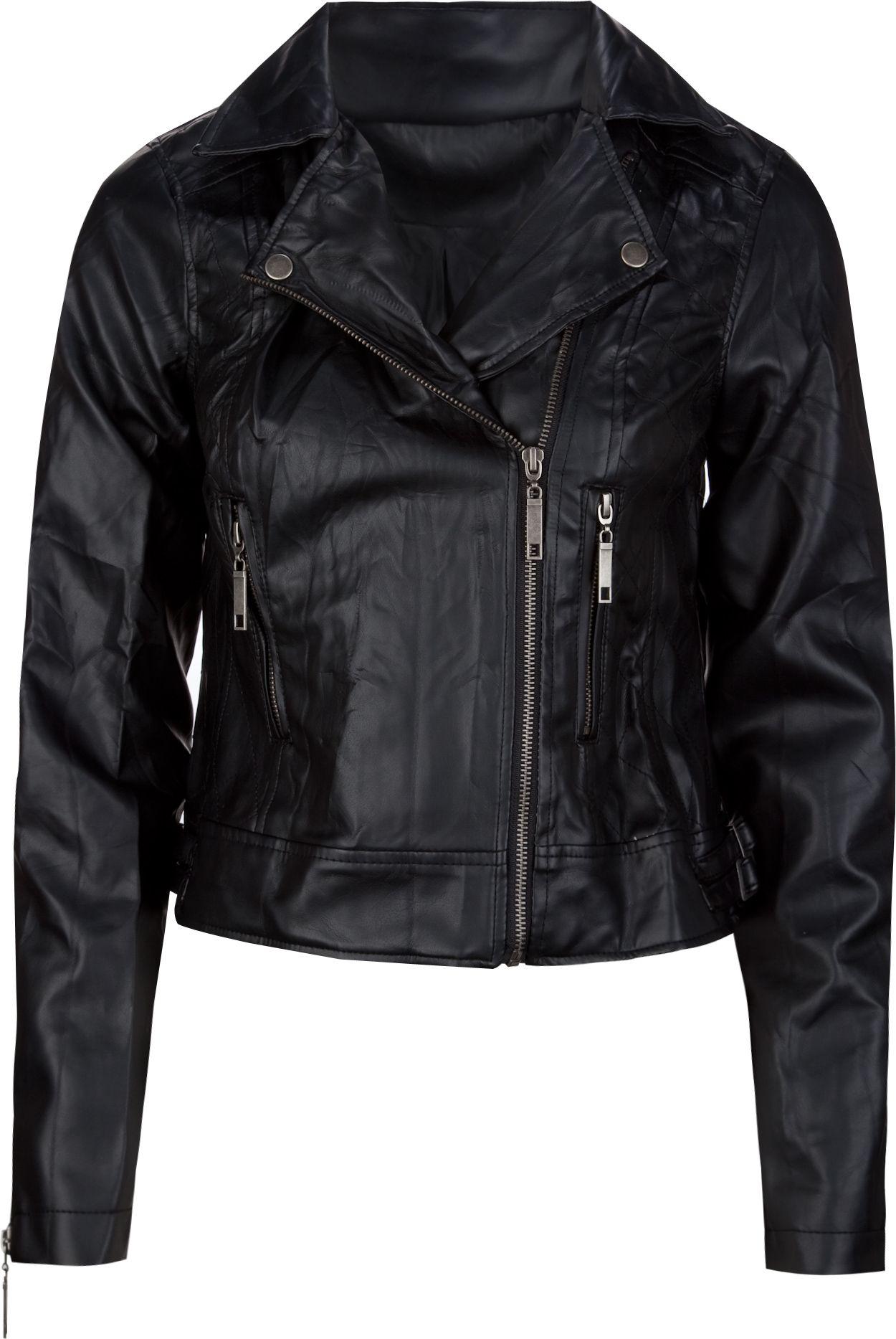 Ashley faux leather womens biker jacket 207486100