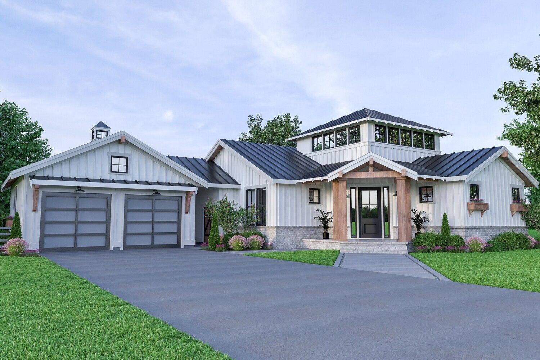 Jwr Design Farmhouse Style House Plans House Plan With Loft Farmhouse Style House