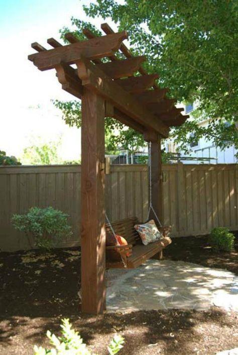 10 Diy Garden Swings That Unite Beauty And Function Backyard Pergola Backyard Swings Backyard Hammock