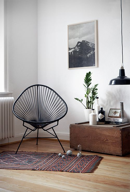 Acapulco Chair style: Innit Designs Acapulco Chair, Black Weave on Black Frame - Acapulco Chairs ...