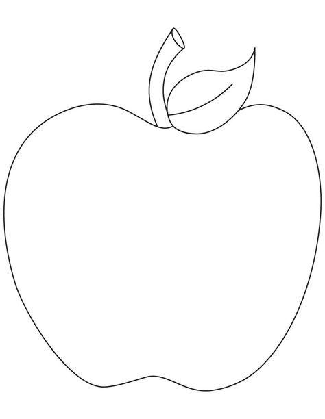 August Apple Printable Http Freecoloringpagesite Com Coloring Pics Apple Coloring Pages Apple Coloring Pages Apple Coloring Coloring Pages To Print