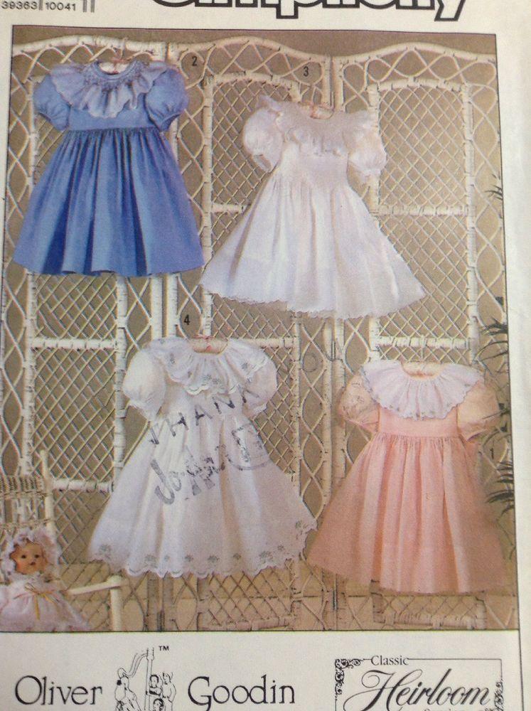 Girls Heirloom Dress Simplicity Sewing Pattern Size 3-8 | children ...