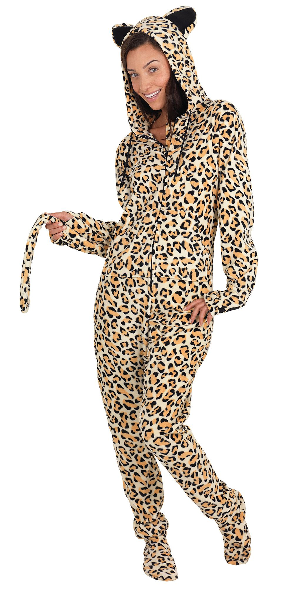 Hoodie-footie - Leopard Hideous Clothes And Accessories