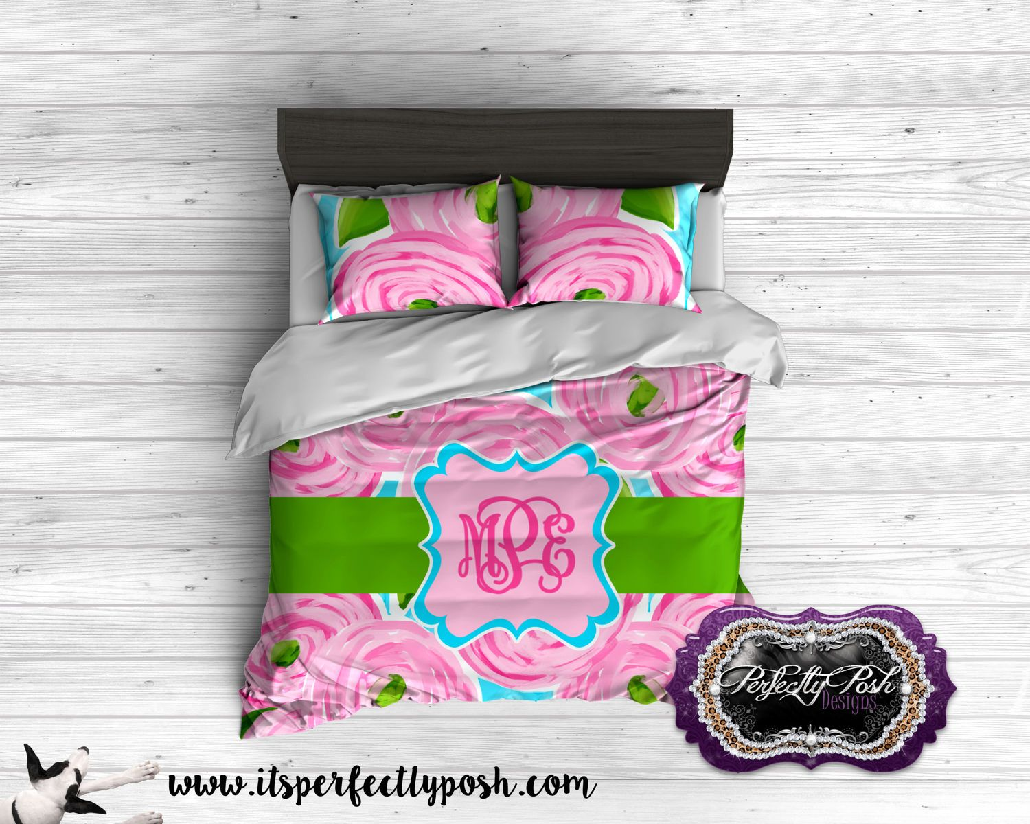 Rose Floral Bedding Custom Design And Personalized Comforter Or