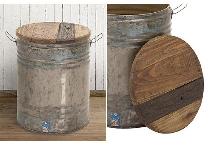 Barrel End Table, Drum Stool, Drum End Table