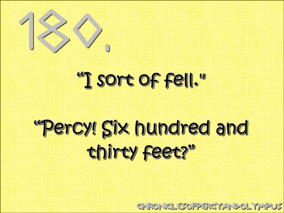 Percy Jackson, Percy