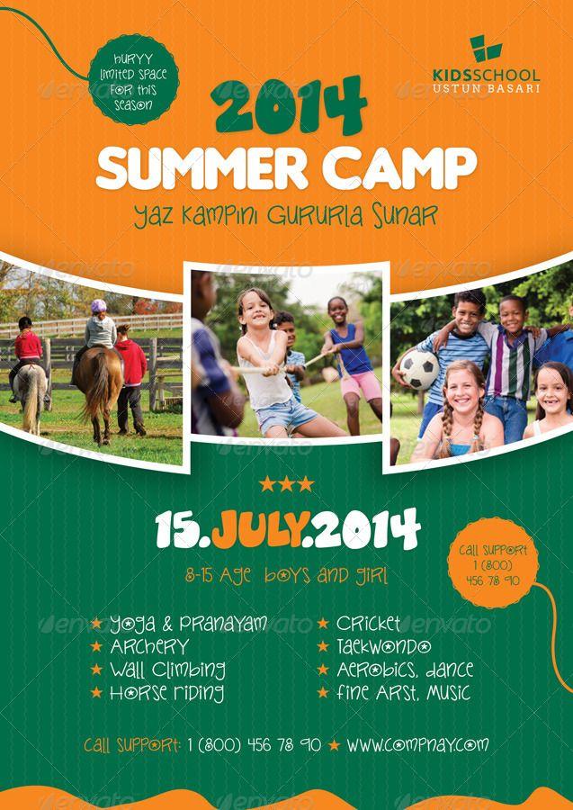 Summer Camp Flyer Templates Flyer Template School Brochure Summer Camp