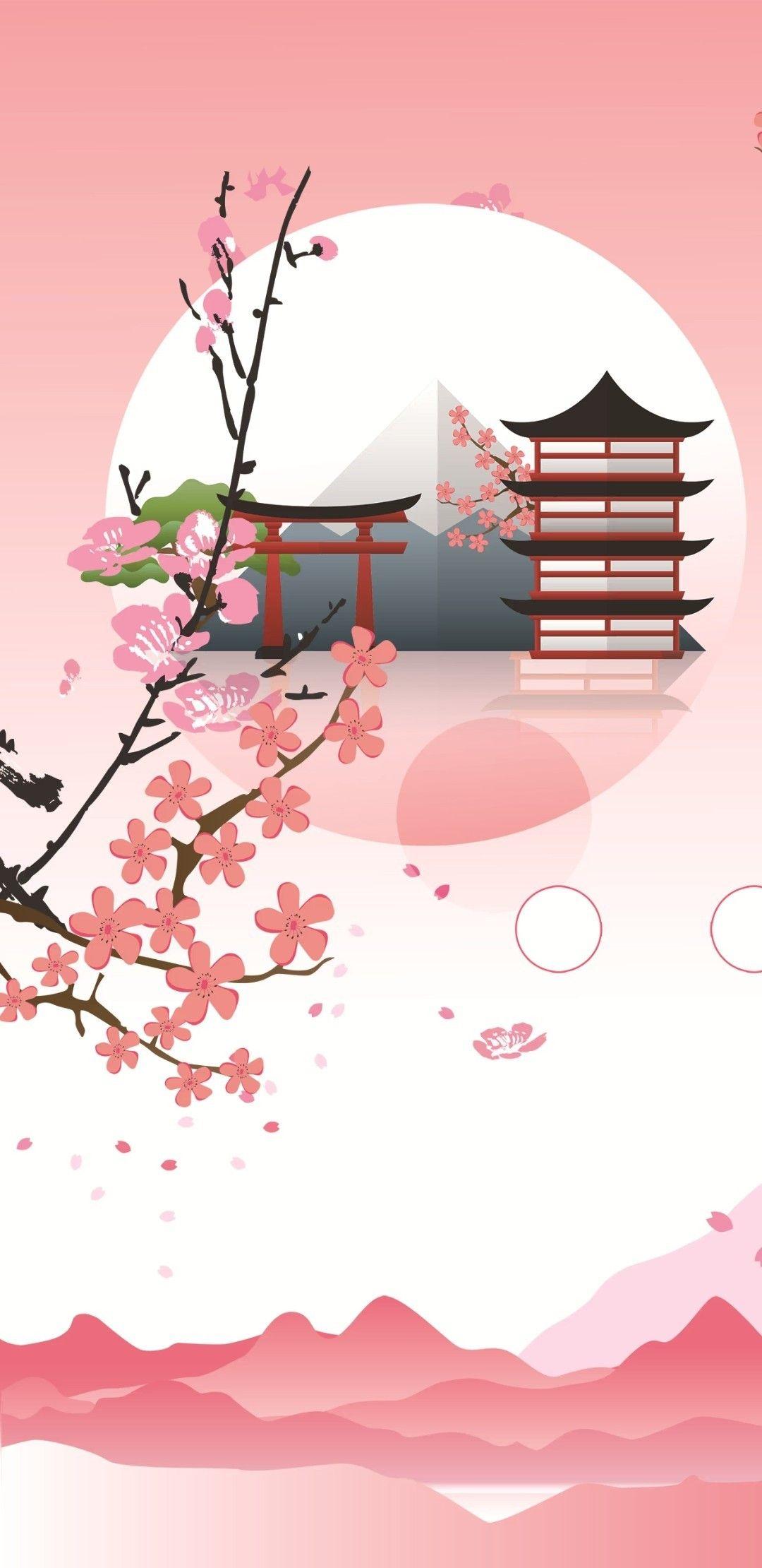 Pin By Glen On Japanese Cherry Blossom Wallpaper Kawaii Wallpaper Cherry Blossom Wallpaper Anime Wallpaper