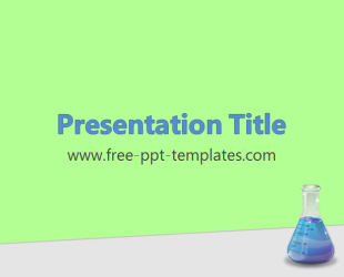 Royalty free medicinal chemistry powerpoint template in green.