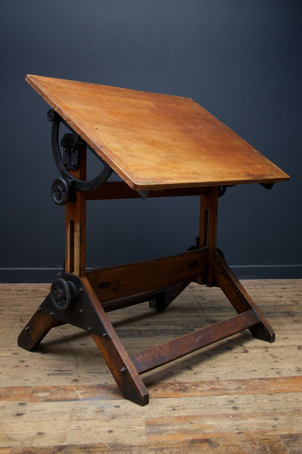 Original 19c Architects Desk In As Found Condition From Drew