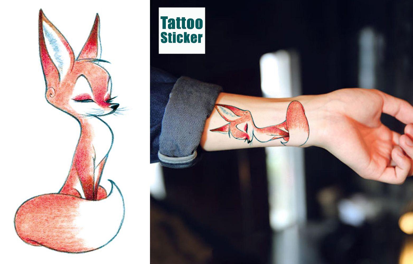 Volpe Temporanei Tattoo Tatuaggitemporanei Tatuaggi Tattoo