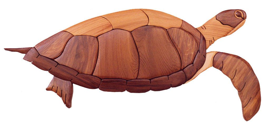 Intarsia Woodworking Pattern Turtle By Gielishwoodsculpture