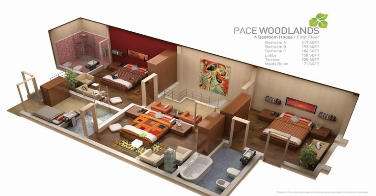 4 Bedrooms First Floor Pakistani Homes Diy House Plans Design