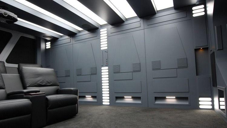 star wars themed home cinema for sale space 1999 style futristic home design pinterest. Black Bedroom Furniture Sets. Home Design Ideas
