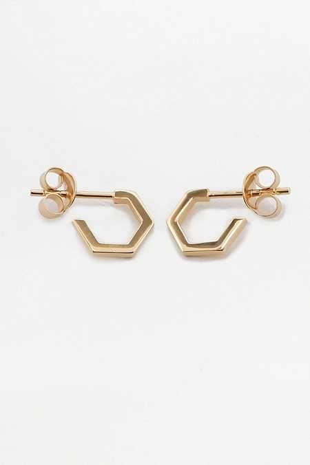 mini hoop earrings - Metallic Rachel Jackson London 7UJYQ