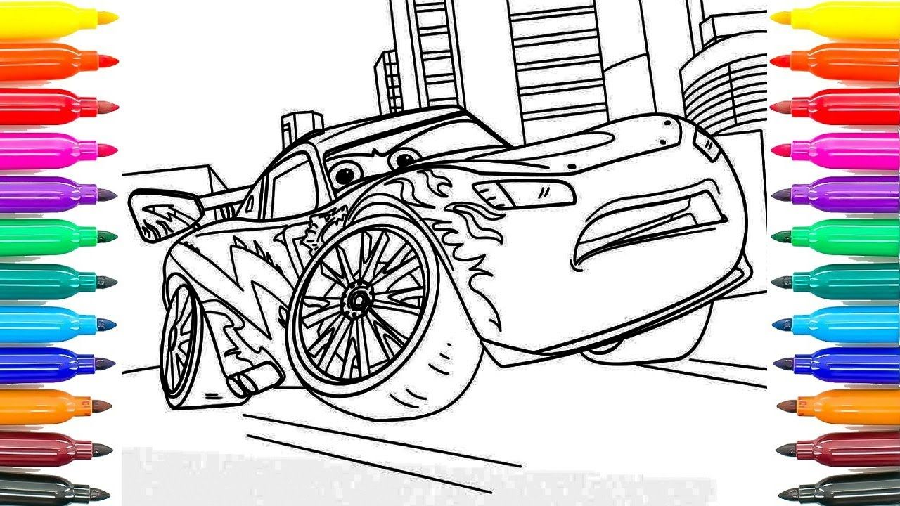 How To Paint New Cars 3 Lightning Mcqueen Learning Coloring Pages For Kids Funny Coloring Book Funny Coloring Book Coloring Books Coloring Pages For Kids