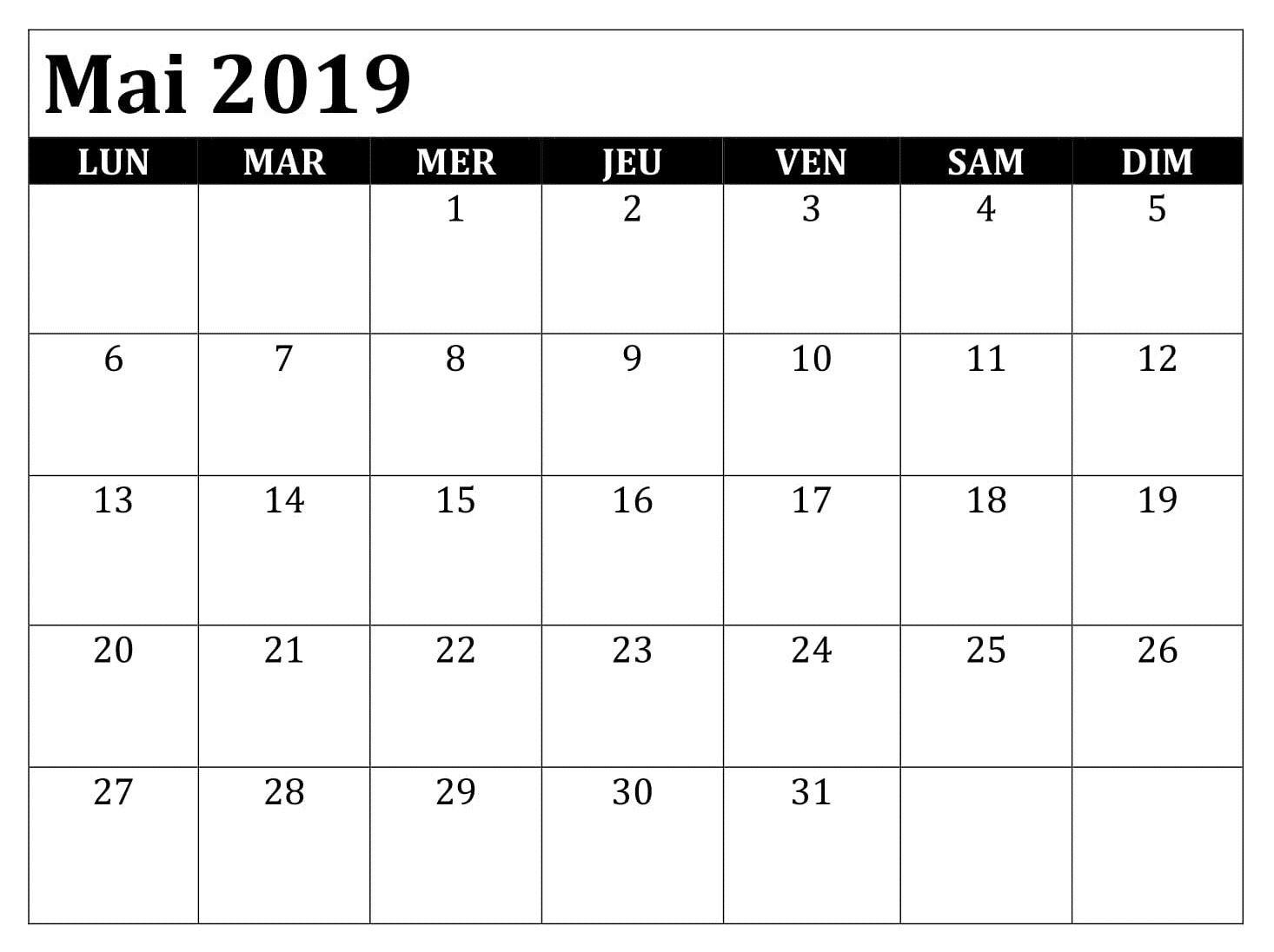 Calendrier Mai2019.Calendrier Mai 2019 Avec Jours Feries Mai Mai2019