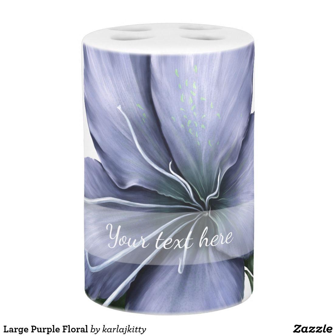 Large Purple Floral Bath Set | Pinterest | Bath