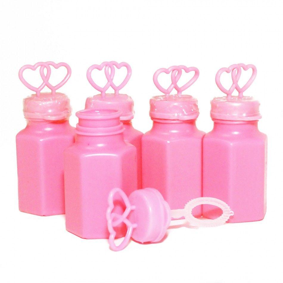 Double Open Heart Bubbles - Pink (24 Bottles = 25¢/Bottle) [Buy Pink ...