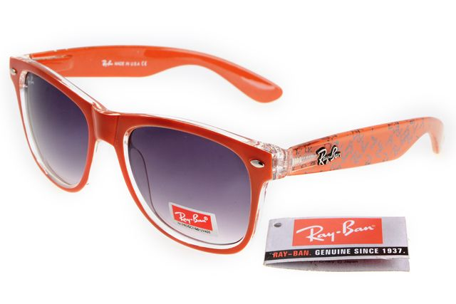 Ray-Ban zx300 Orange Pattern Frame Gray Lens RB1343 [RB-1348] -
