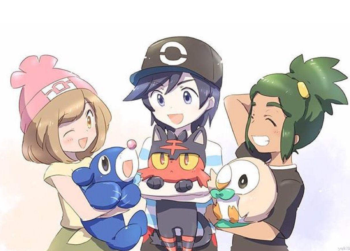 Pokemon coloring pages popplio - Pokemon Starters Of The 7th Generation Alola Region Water Type Popplio Fire