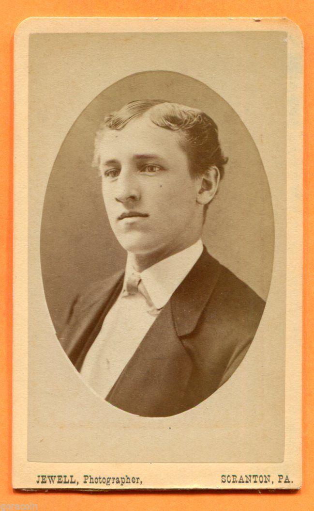 CDV Scranton PA Portrait OF A Young MAN BY Jewell Circa 1870s | eBay