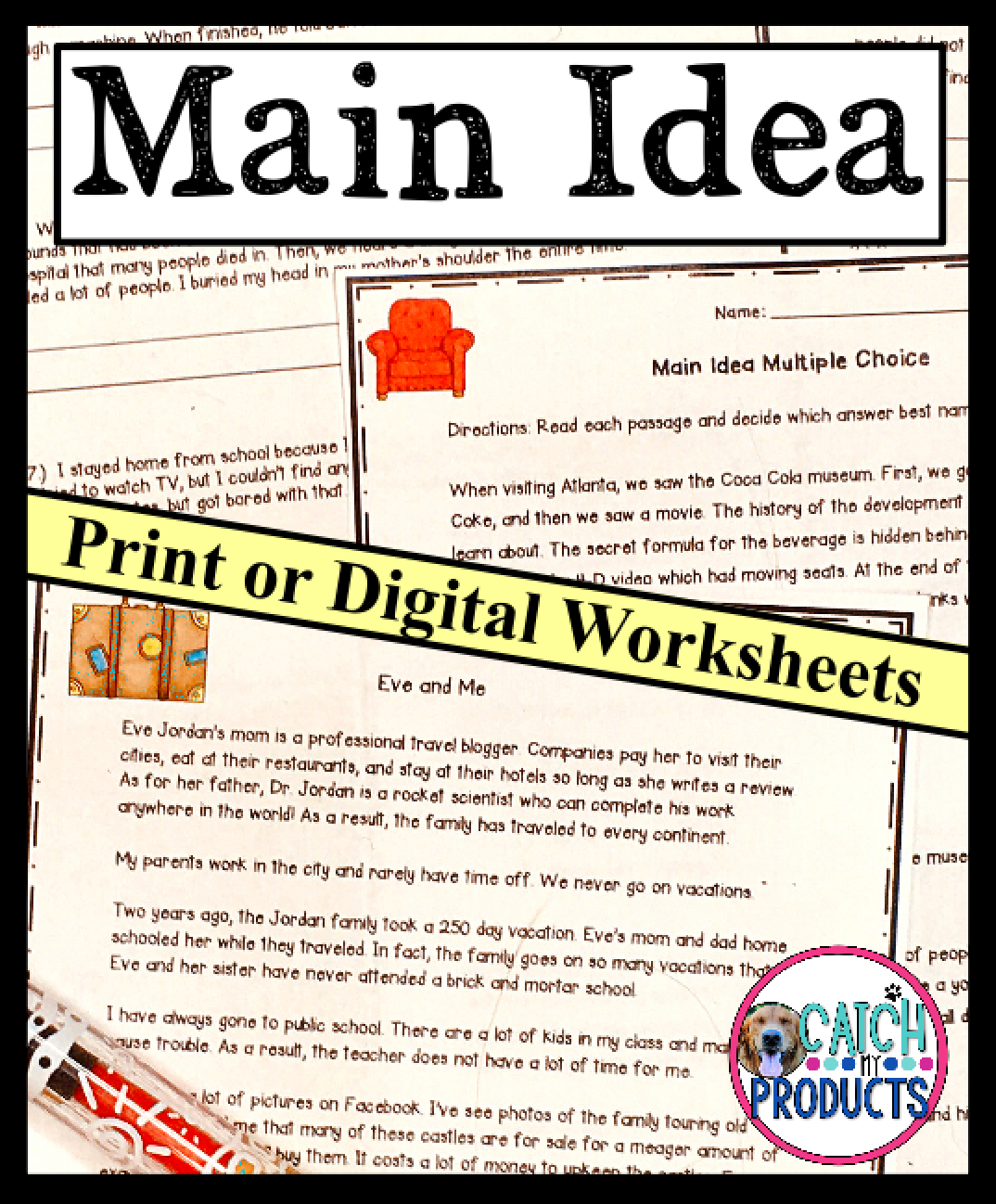 Main Idea Worksheets In